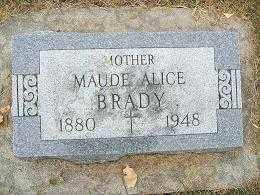 BRADY, MAUDE ALICE - Minnehaha County, South Dakota | MAUDE ALICE BRADY - South Dakota Gravestone Photos