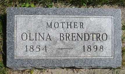 BRENDTRO, OLINA - Minnehaha County, South Dakota | OLINA BRENDTRO - South Dakota Gravestone Photos