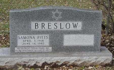 PITTS BRESLOW, SAMONA - Minnehaha County, South Dakota | SAMONA PITTS BRESLOW - South Dakota Gravestone Photos