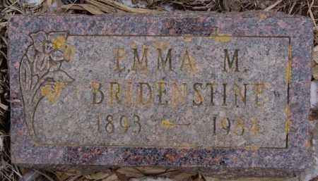 BRIDENSTINE, EMMA M - Minnehaha County, South Dakota | EMMA M BRIDENSTINE - South Dakota Gravestone Photos