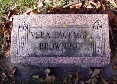 PACKMAN BROWNING, VERA - Minnehaha County, South Dakota   VERA PACKMAN BROWNING - South Dakota Gravestone Photos