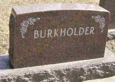 BURKHOLDER, FAMILY STONE - Minnehaha County, South Dakota | FAMILY STONE BURKHOLDER - South Dakota Gravestone Photos