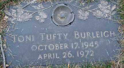 BURLEIGH, TONI - Minnehaha County, South Dakota | TONI BURLEIGH - South Dakota Gravestone Photos
