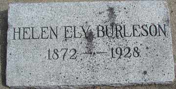BURLESON, HELEN ELY - Minnehaha County, South Dakota | HELEN ELY BURLESON - South Dakota Gravestone Photos