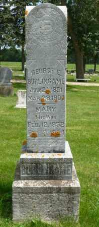 MARTIN BURLINGAME, MARY - Minnehaha County, South Dakota | MARY MARTIN BURLINGAME - South Dakota Gravestone Photos
