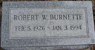 BURNETTE, ROBERT W. - Minnehaha County, South Dakota | ROBERT W. BURNETTE - South Dakota Gravestone Photos