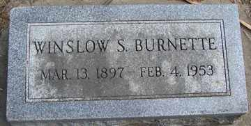 BURNETTE, WINSLOW S. - Minnehaha County, South Dakota | WINSLOW S. BURNETTE - South Dakota Gravestone Photos