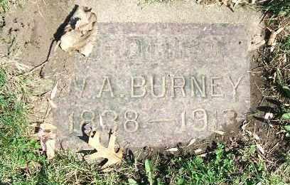 BURNEY, W. A. - Minnehaha County, South Dakota   W. A. BURNEY - South Dakota Gravestone Photos
