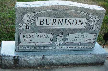 BURNISON, ROSE ANNA - Minnehaha County, South Dakota | ROSE ANNA BURNISON - South Dakota Gravestone Photos