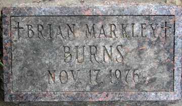BURNS, BRIAN MARKLEY - Minnehaha County, South Dakota | BRIAN MARKLEY BURNS - South Dakota Gravestone Photos