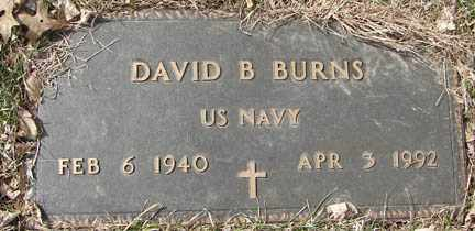 BURNS, DAVID B. - Minnehaha County, South Dakota   DAVID B. BURNS - South Dakota Gravestone Photos