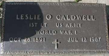 CALDWELL, LESLIE O. (WWI) - Minnehaha County, South Dakota   LESLIE O. (WWI) CALDWELL - South Dakota Gravestone Photos
