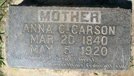 CARSON, ANNA C. - Minnehaha County, South Dakota | ANNA C. CARSON - South Dakota Gravestone Photos