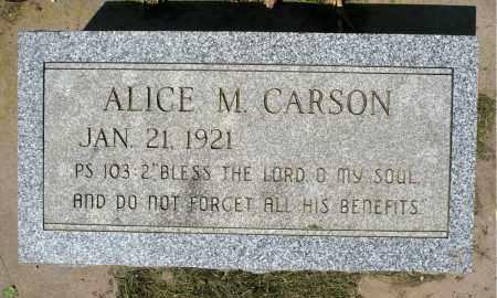 CARSON, ALICE MARIE - Minnehaha County, South Dakota | ALICE MARIE CARSON - South Dakota Gravestone Photos