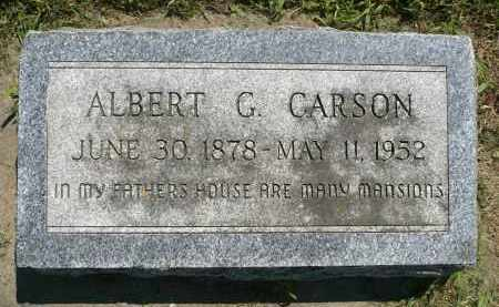 CARSON, ALBERT G. - Minnehaha County, South Dakota | ALBERT G. CARSON - South Dakota Gravestone Photos