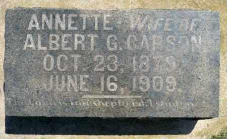 CARSON, ANNETTE - Minnehaha County, South Dakota | ANNETTE CARSON - South Dakota Gravestone Photos
