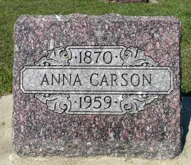 CARSON, ANNA - Minnehaha County, South Dakota | ANNA CARSON - South Dakota Gravestone Photos