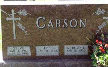 CARSON, SHIRLEY - Minnehaha County, South Dakota | SHIRLEY CARSON - South Dakota Gravestone Photos