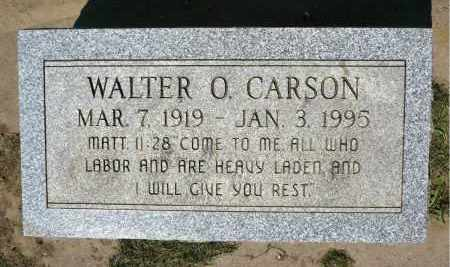 CARSON, WALTER O. - Minnehaha County, South Dakota   WALTER O. CARSON - South Dakota Gravestone Photos