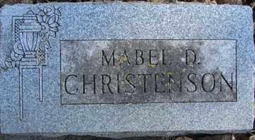 CHRISTENSON, MABEL D. - Minnehaha County, South Dakota | MABEL D. CHRISTENSON - South Dakota Gravestone Photos