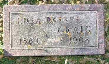 BARKER CRAIG, CORA - Minnehaha County, South Dakota | CORA BARKER CRAIG - South Dakota Gravestone Photos