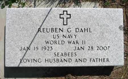 DAHL, REUBEN G. (WWII) - Minnehaha County, South Dakota   REUBEN G. (WWII) DAHL - South Dakota Gravestone Photos