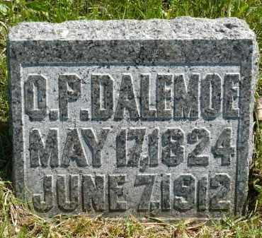 DALEMOE, OLE P. - Minnehaha County, South Dakota | OLE P. DALEMOE - South Dakota Gravestone Photos