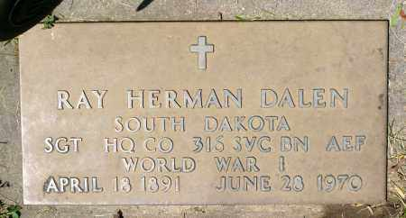 DALEN, RAY HERMAN (WWI) - Minnehaha County, South Dakota | RAY HERMAN (WWI) DALEN - South Dakota Gravestone Photos
