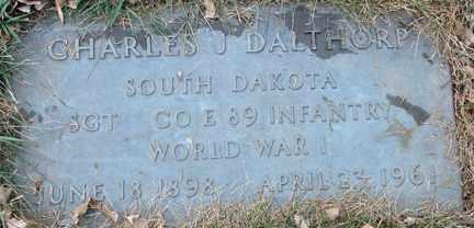 DALTHORP, CHARLES J. (WWI) - Minnehaha County, South Dakota   CHARLES J. (WWI) DALTHORP - South Dakota Gravestone Photos