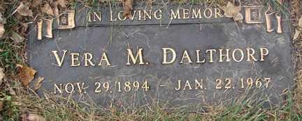 DALTHORP, VERA M. - Minnehaha County, South Dakota   VERA M. DALTHORP - South Dakota Gravestone Photos