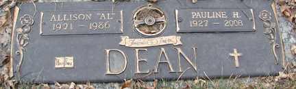"DEAN, ALLISON ""AL"" - Minnehaha County, South Dakota | ALLISON ""AL"" DEAN - South Dakota Gravestone Photos"
