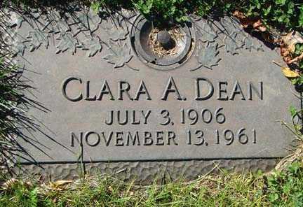DEAN, CLARA A. - Minnehaha County, South Dakota   CLARA A. DEAN - South Dakota Gravestone Photos