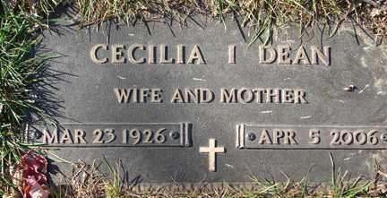DEAN, CECILLIA ISABELL - Minnehaha County, South Dakota   CECILLIA ISABELL DEAN - South Dakota Gravestone Photos