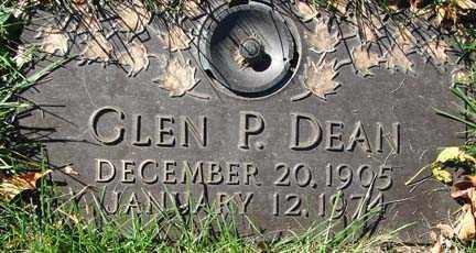 DEAN, GLEN P. - Minnehaha County, South Dakota   GLEN P. DEAN - South Dakota Gravestone Photos