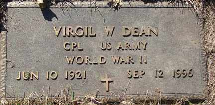 DEAN, VIRGIL W. - Minnehaha County, South Dakota   VIRGIL W. DEAN - South Dakota Gravestone Photos