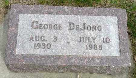 DEJONG, GEORGE - Minnehaha County, South Dakota | GEORGE DEJONG - South Dakota Gravestone Photos