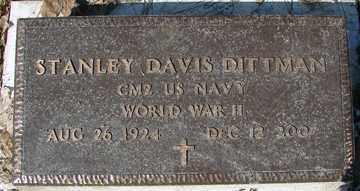 DITTMAN, STANLEY DAVIS - Minnehaha County, South Dakota | STANLEY DAVIS DITTMAN - South Dakota Gravestone Photos