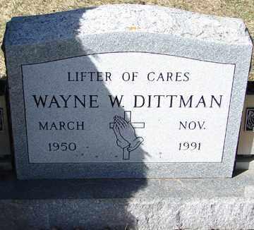 DITTMAN, WAYNE W. - Minnehaha County, South Dakota | WAYNE W. DITTMAN - South Dakota Gravestone Photos