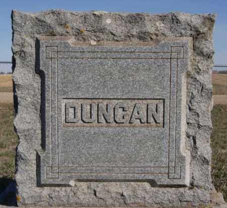 DUNCAN, FAMILY MARKER - Minnehaha County, South Dakota | FAMILY MARKER DUNCAN - South Dakota Gravestone Photos