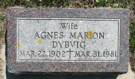 DYBVIG, AGNES MARION - Minnehaha County, South Dakota | AGNES MARION DYBVIG - South Dakota Gravestone Photos