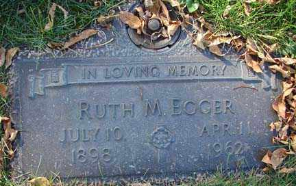 EGGER, RUTH M. - Minnehaha County, South Dakota | RUTH M. EGGER - South Dakota Gravestone Photos