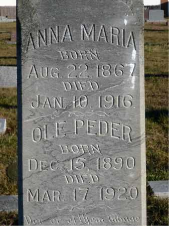 ELGAAEN, ANNA MARIA - Minnehaha County, South Dakota   ANNA MARIA ELGAAEN - South Dakota Gravestone Photos