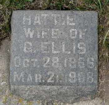 WARD ELLIS, HATTIE - Minnehaha County, South Dakota | HATTIE WARD ELLIS - South Dakota Gravestone Photos