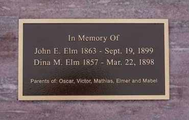 ELM, JOHN E - Minnehaha County, South Dakota   JOHN E ELM - South Dakota Gravestone Photos