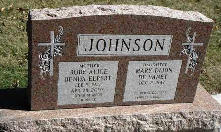 JOHNSON, RUBY ALICE - Minnehaha County, South Dakota | RUBY ALICE JOHNSON - South Dakota Gravestone Photos