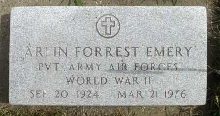 EMERY, ARLIN FORREST - Minnehaha County, South Dakota | ARLIN FORREST EMERY - South Dakota Gravestone Photos