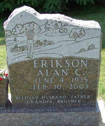 ERIKSON, ALAN C. - Minnehaha County, South Dakota | ALAN C. ERIKSON - South Dakota Gravestone Photos