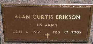 ERIKSON, ALAN CURTIS - Minnehaha County, South Dakota | ALAN CURTIS ERIKSON - South Dakota Gravestone Photos