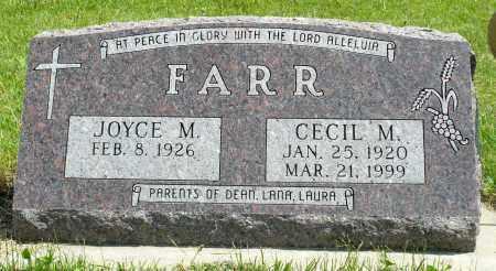 FARR, JOYCE M. - Minnehaha County, South Dakota | JOYCE M. FARR - South Dakota Gravestone Photos