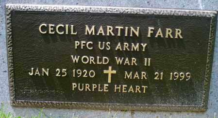 FARR, CECIL MARTIN (WWII) - Minnehaha County, South Dakota | CECIL MARTIN (WWII) FARR - South Dakota Gravestone Photos